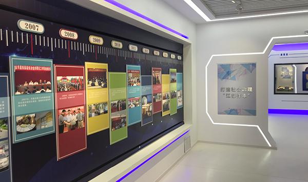 江都展厅时间轴滑轨屏展示